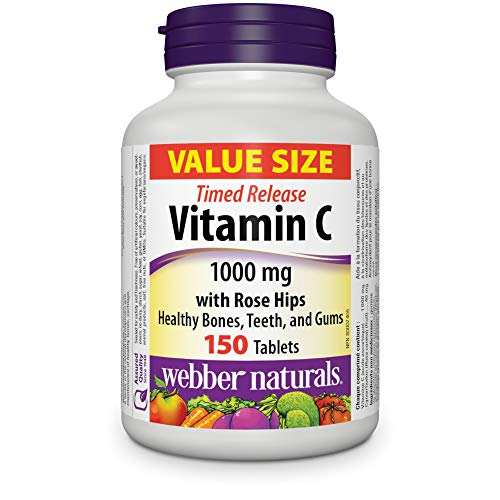 Webber Naturals Vitamin C Time Release Tablets, 1000mg, 150 Count