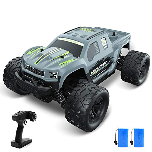 VRG RC Cars for Adults, 1:18 Scale 4WD High Speed Electric Remote Control Car, 30+ MPH Off Road Monster Trucks Toys, 2.4GHz All Terrain Vehicle Boy Kids Gift with 2 Batteries for 60+ Min Play