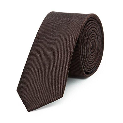 Bruce Field - Cravate fine pure soie côtelée