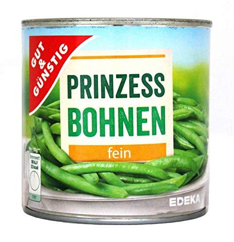 GUT & GÜNSTIG Junge Prinzessbohnen fein, 12er Pack, 12 x 400 g