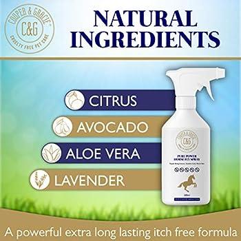 C&G Pets - Spray pour chevaux Pure Power 500 ml - Formule résistante à la transpiration - Ingrédients naturels - Protection longue durée pour la peau et les cheveux