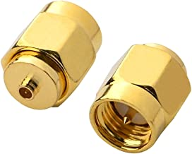 BOOBRIE IPX SMA Coax Connector SMA Male to U.FL/IPX Male Coaxial Connector Low Loss Coax Adapter for PCI/RF Antennas/Wireless LAN Devices/Coaxial Cable/Wi-Fi Radios Pack of 2