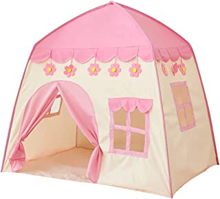Licogel Kids Play Tent Set Cute Foldable Oxford Cloth Game Tent Playhouse Tent for Children Sleeping Boys