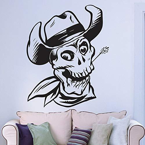 Tianpengyuanshuai muurstickers, doodshoed, cowboy, cowboy, cowboy, cool stijl, decoratie voor huis, slaapkamer, vinyl