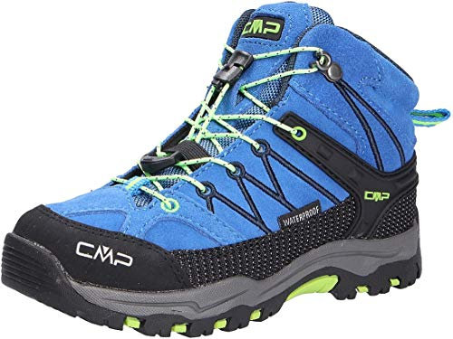 CMP Rigel Mid Wp, Chaussures de Randonnée Hautes, mixte enfant, Bleu, 37 EU