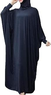 Spirio Womens Abaya Islamic One-Piece Batwing Sleeve Hijab Muslim Hajj Umrah Prayer Dress