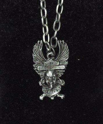 Coole Halskette mit Anhänger aus Metall - ideal für Biker oder Gothic Fans #3