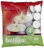 Bolsius Bougie Chauffe-Plat 103630308200, Cire de Paraffine, Blanc, Lot de 30