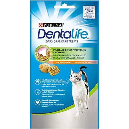 Scopri offerta per PURINA DENTALIFE Snack gatto al gusto di Pollo - 8 confezioni da 40g ciascuna