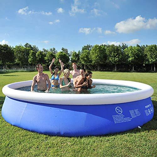 ZWMM Aufblasbare Pools,Schwimmbad für Kinder Aufblasbares Schwimmbad für Erwachsene Großes Freibad für den Sommer Sommersitzhalterung, Planschbecken