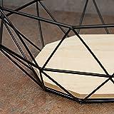 levandeo Korb Metall Schwarz 26x12cm Modern Holz MDF Braun Schüssel Schale Deko Design Tischdeko - 2