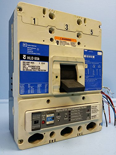 CH Cutler-Hammer HLD3600T107W 600A Circuit Breaker HLD3600 Westinghouse 600 Amp