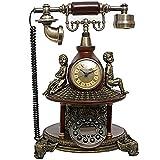 ADSE Teléfono con Cable - Teléfono para Personas Mayores - Teléfono para Personas con Problemas de audición Teléfono de Novedad Retro - Botón BStyle
