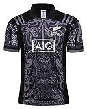Beautyup Equipo Nueva Zelanda, Copa del Mundo, Camisetas para hombre, Maori All Blacks, Camiseta de entrenamiento de rugby, Camiseta deportiva (Color : B, Size : L)