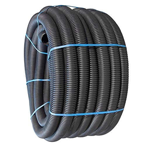 Various Perforated Land Drainage Piping Coil Pipe (25M x 80mm) for field or garden underground water...