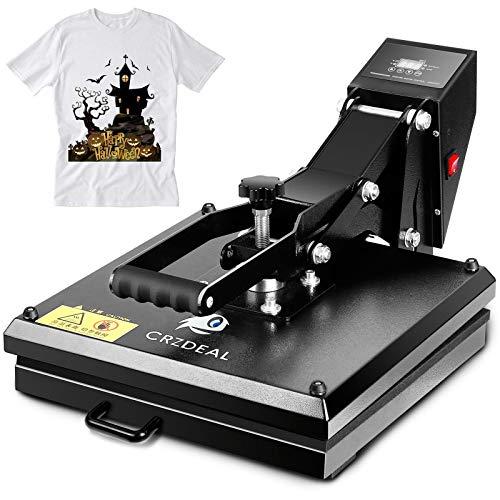 CRZDEAL Heat Press-15 x 15 inch Digital Heat Transfer Sublimation, Industrial Quality T-Shirt Heat Press Machine