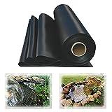 Warooma Schwarz Teichfolie HDPE Gartenteichfolie,Gartenpoolmembran Teich Folie,Schwimmteich,für Gartenteich Stärke,UV-Beständig,Reißfest Umweltfreundlic