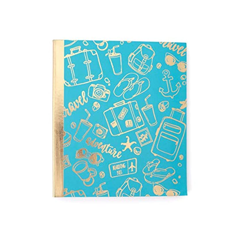 Paper House Productions ALB-8500E HP Moment Makers Soft Cover Mini Album, Travel, Blue