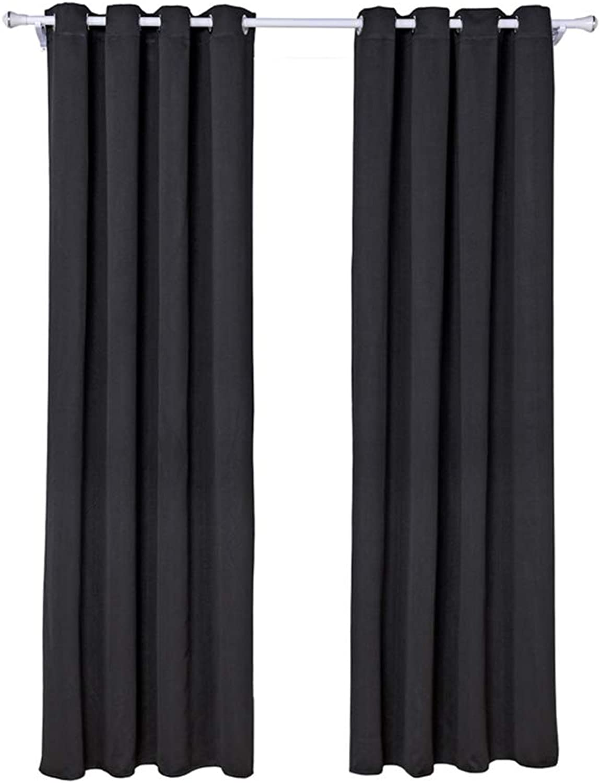 ofrecemos varias marcas famosas Encounter G Cortinas Negras de Una Sola Sola Sola Capa Ligeras 140 X 240 cm Cortinas con Aislamiento Oscuro 2 Paneles para la Oficina Cocina Bao 40% -70% Grado de Sombreado,negro,140  240cm  moda clasica