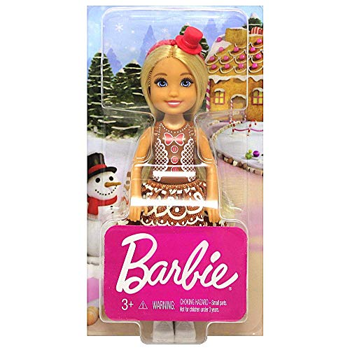 Barbie Christmas Chelsea Doll in Gingerbread Dress