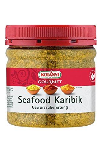 Kotanyi Gourmet Seafood Karibik Gewürzzubereitung   feines Gewürz für Fisch und Meeresfrüchte mit wertvollen Zutaten, 400 ml