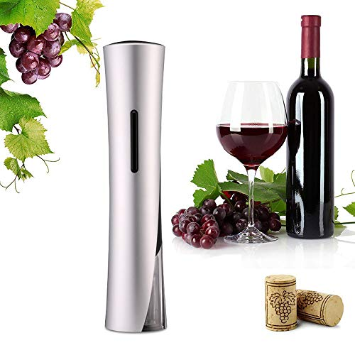 Portable Electric Wine Bottle Opener Gift Set, Battery Operated Wine Opener Set Wine Corkscrew with Foil Cutter, Fast Automatic Screwpull Bottle Opener, Gift for Wine Lovers Red wine, Black
