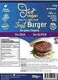 JUST VEGAN | Hamburguesa Burgesa Sin SOJA | Sin GLUTEN | 100% Vegetal | Plant Based | Vegano | 2 porciones (260g)