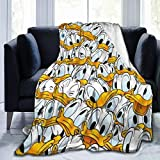 Criss Many Donald Duck Throw Blanket Ultra Soft Thick Microplush Bed Blanket-All Season Premium Fluffy Microfiber Fleece Throw for Sofa Couch Throw50 x40