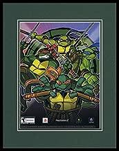 Teenage Mutant Ninja Turtles PS2 Framed 11x14 ORIGINAL Vintage Advertisement