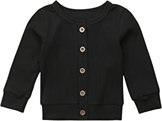 Newborn Toddler Baby Girls Long Sleeve Button Down Knitted Sweater Cardigan Coat