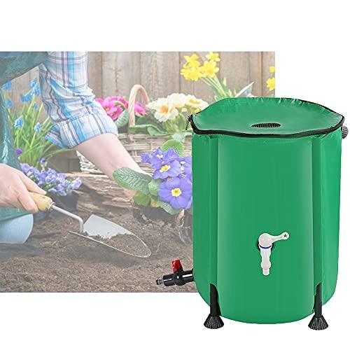 YAYADU-Storage Basket Colector De Agua De Lluvia, Tanque De Agua Flexible, Malla De Filtro Superior De Lona De PVC De 0,55 Mm De Espesor para Riego De Jardín (Color : Green, Size : 1000L/120x88cm)