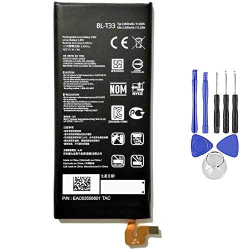 Ellenne Batería compatible con LG BL-T33 Q6 Q6A Q6+ Plus BLT33 3000 mAh con kit de desmontaje incluido