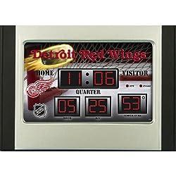 Team Sports America Detroit Redwings Scoreboard Desk Clock