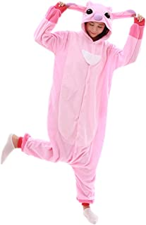 Unisex-Adult Onesie Pajamas Stitch Animal Sleepwear for Halloween Party Costumes,Daily Cartoon Outfit