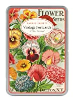 Cavallini Garden Variety, 12 Postcards per Tin [並行輸入品]