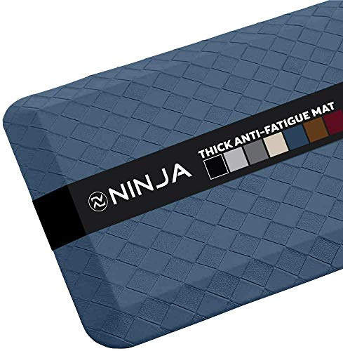 Ninja Brand Premium Floor Comfort Mat, Ergonomically Engineered, Extra Support Floor Pad, Commercial Grade Rug for Kitchen, Gaming, Office Standing Desk Mats, 17x24 Inches, Midnight Blue