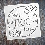 EricauBird Fab-Boo-lous - Cartel de metal para colgar en la pared, decoración rústica vintage para porche, hogar, jardín, bar, tienda, inauguración de casa, aniversario de boda
