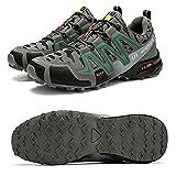 CHUIKUAJ Zapatillas de Ciclismo Zapatillas de Bicicleta de Carretera para Hombre Zapatillas de Bicicleta de Montaña Zapatillas de MTB,Zapatos para Correr Casuales,Grey-42EU