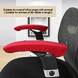 Cojines cómodos del cojín del brazo de la silla del escritorio de la silla de la cubierta del apoyabrazos de la silla con buena elasticidad(Wine red)