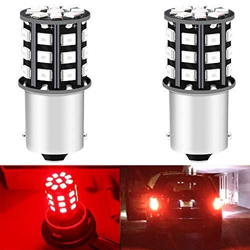 Alopee 2-Pack 1156 BA15S 1141 1073 7506 1003 Lampadine per Freni Auto - 12V-24V Estremamente Rosso Brillante 2835 33 SMD Lampadina a LED - Sostituzione per Lampadine di Coda Lampadine per Parcheggio