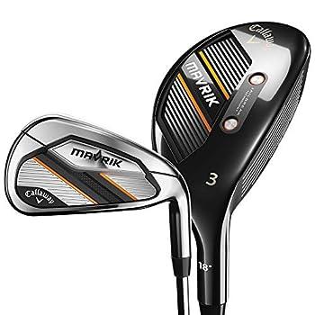 Callaway Golf 2020 Mavrik Hybrid Iron Combo Set  Set of 7 Clubs  5H 6IR - PW AW Left Hand Steel Stiff