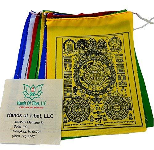 Wheel of Astrology Prayer Flags for Positive Energy