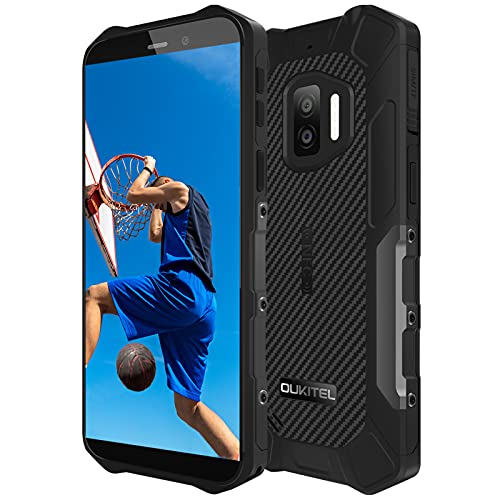 OUKITEL WP12 Pro Android 11 Telefono Movil Resistente,4GB+64GB Dual SIM Rugged Smartphone Baratos, 5.5'' HD 13MP+8MP Cámara Impermeable IP68 Robusto,Batería 4000 mAh con NFC Antigolpes Móvil Negro