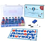 Magnetic Letters and Numbers Set - Foam Letter Kit +White Board - Lowercase & Uppercase Magnets...