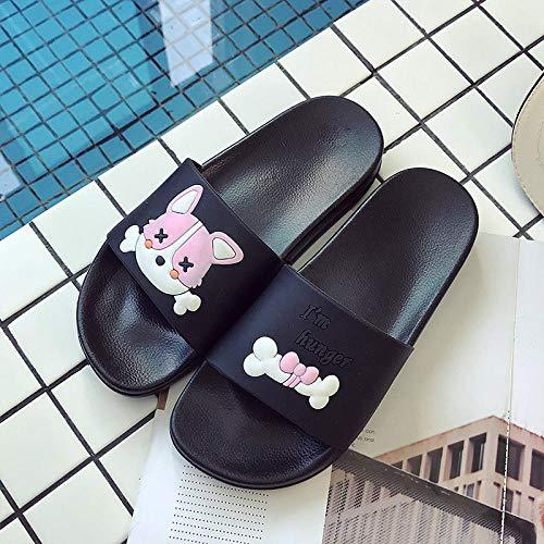 Sandalias de ducha antideslizantes, zapatillas de baño en el baño, zapatillas de masaje antideslizantes, cómodas y ligeras, Polvo Negro 13, UK8.5
