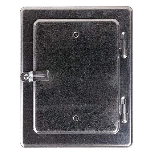 FIREFIX 2093 Kamintür verzinkt, Nennmaß: 140 x 200 mm-Außenmaß: 230 x 290 mm, Stahl