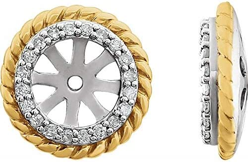 14K White Gold-Plated 1 Super intense SALE 8 Ranking integrated 1st place CTW Diamond Rope Earring Jackets with
