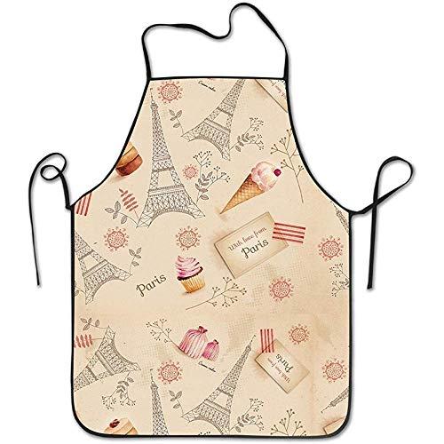 DSFA Paris Eiffelturm Unisex Charakter Küche Kochschürze Pflegeleicht OneSize