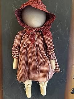 Primitive Farmhouse Prairie Doll Rosetta May