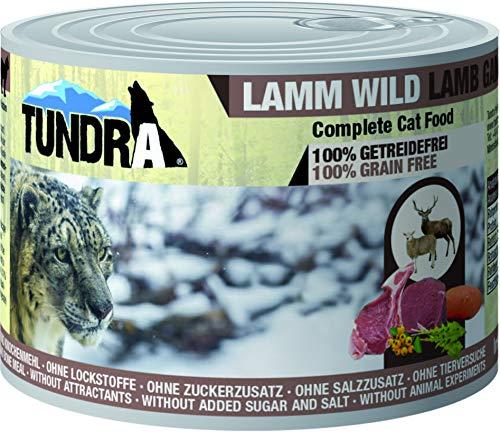 Tundra Katzenfutter Lamm & Wild - getreidefreies Nassfutter (6 x 200g)